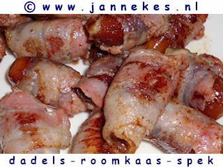 gourmet - recept dadels met roomkaas en spek