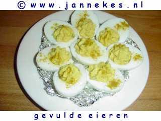 recepten voor Gevulde eieren met kerrie