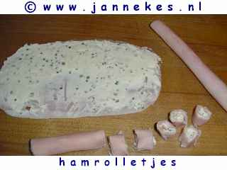 recept voor Borrelhapje hamrolletjes