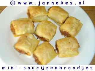 recepten voor minisaucijzenbroodjes