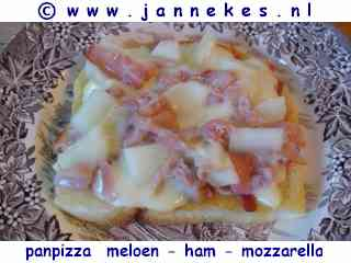 Panpizza met meloen