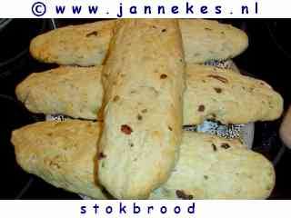 foto recept Stokbrood bakken