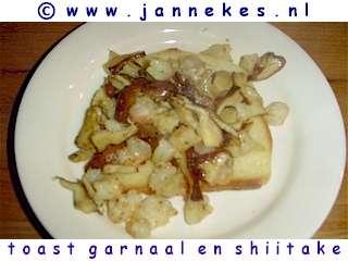 recepten voor toast met garnaal