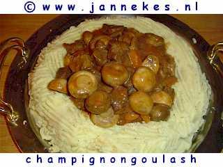 recepten voor goulash met champignons