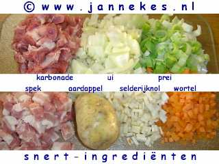 recept voor ingredienten erwtensoep