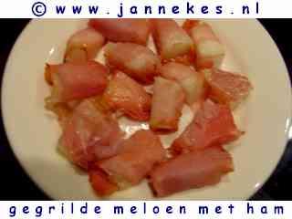 recepten voor gegrilde meloen met ham
