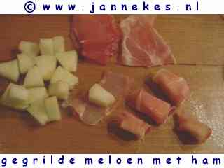 recept voor gegrilde meloen