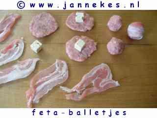 recept voor slavink met feta balletjes