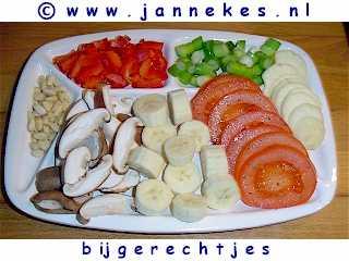gourmet - recept bijgerechten en groenten voor gourmet en fondue
