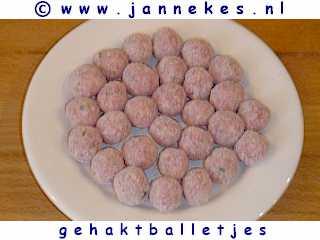 gourmetten - foto recept gehaktballetjes