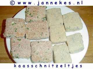 gourmetten - foto recept kaasschnitzeltjes