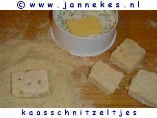 gourmetten - foto recept kaasschnitzels