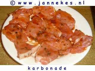 gourmet - recept karbonade