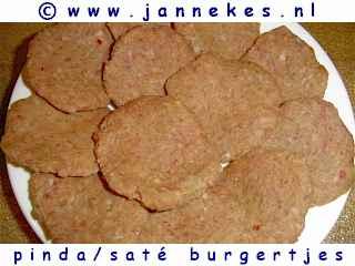 gourmetten - foto recept pinda sate burger