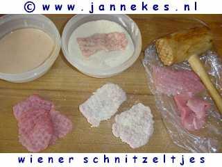 gourmetten - foto recept wiener schnitzeltjes