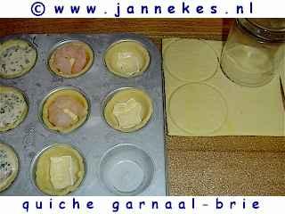 recept voor quiche met garnaal en brie