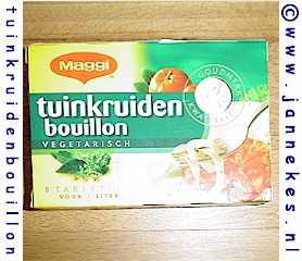Bouilonblokjes tuinkruiden