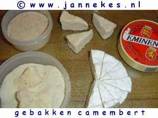 recept voor Gebakken camembert