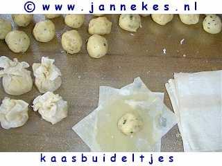 recept voor kaasbuideltjes