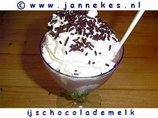 recepten voor ijs en chocolademelk