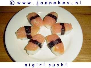 recept voor nigiri sushi