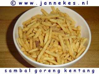 recepten voor Sambal goreng kentang