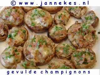 recept voor Gevulde champignons