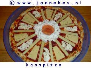 recept voor Quattro Formaggi kaaspizza