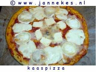 recepten voor kaaspizza
