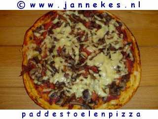 recepten voor paddestoelen pizza