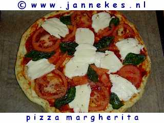 recept voor Pizza Margherita