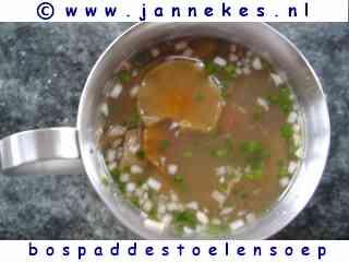 recepten voor bospaddestoelen soep