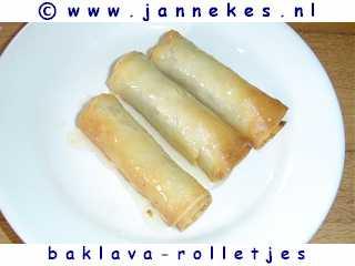 recepten voor baklavarolletjes