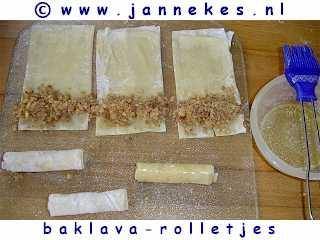 recepten voor baklava-rolletjes