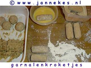 recepten voor Garnalenkroketten