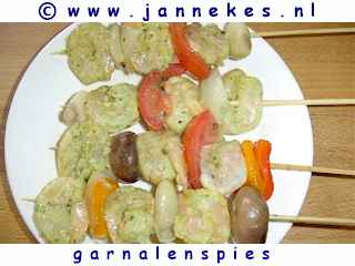 foto recept garnalenspies