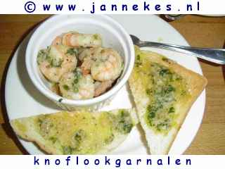 foto recept knoflookgarnalen